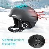 VANRORA Ski Helmet, Snowboard Helmet Black, M