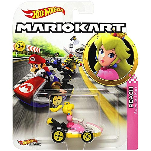 Luigi And Princess Peach (Hot Wheels Princess Peach Super Mario Kart Character Car Diecast 1:64)
