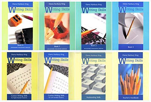 Student Teachers Handbook - Writing Skills Complete Books Set (8 Books) - Book A (Grades 2-4), Book 1 (Grades 5-6), Book 2, Book 3 and Teacher's Handbook, Cursive Writing Skills (Right-Handed Students), Cursive Writing Skills (L