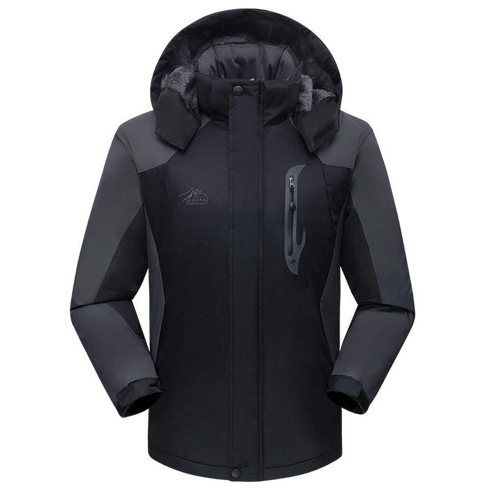 Men's Snow Jacket Windproof 3 in 1 Ski Mountain Jackets Winter Thicken Warm Fleece Hiking Hooded Coat Outwear