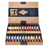 CrushOn@ Mission Gold Class Pure Pigment Water Color MWC-1534P, 15ml 34 Colors with Water Brush by CrushOn