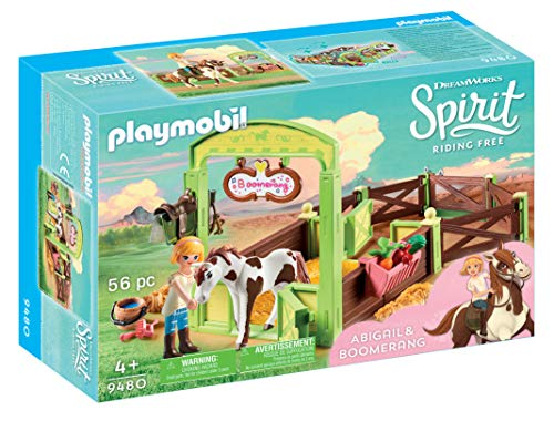 (PLAYMOBIL® 9480 Spirit Riding Free Abigail & Boomerang with Horse Stall)