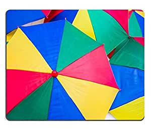Mouse Pad Natural Rubber Mousepads Colorful close up abstract of umbrella 28113939