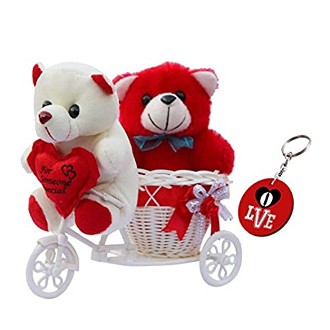 Buy Sky Trends Romantic Valentine Love Couple Teddy Basket Cycle