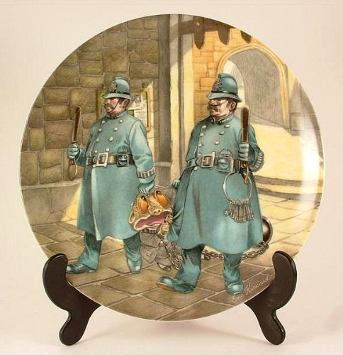 Wedgwood Wind in the Willows collector plate by Eric Kincaid Toad in Chains CP751