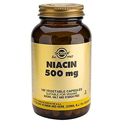 Solgar Niacina 500 mg (Vitamina B3) - 100 cápsulas vegetales