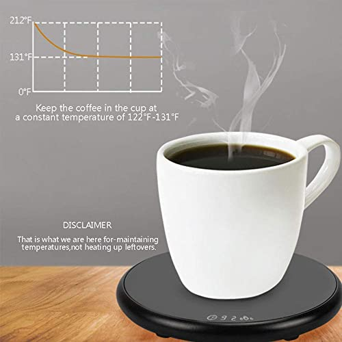 Coffee Heated Mug Warmer Candle Warmer Plate Tea Milk Drink Heater Pad Beverage Heating Plate For Desk Auto Shut Off Temperature Control Office Home