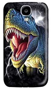Lightening Rex Dinosaur Custom Samsung Galaxy I9500/Samsung Galaxy S4 Case Cover Polycarbonate 3D