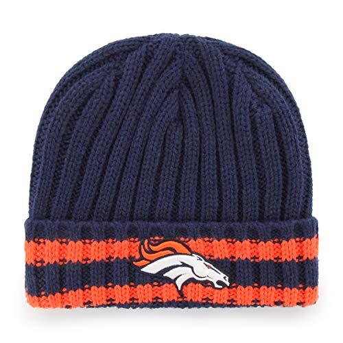 NFL Denver Broncos Bure OTS Cuff Knit Cap, Light Navy, One Size