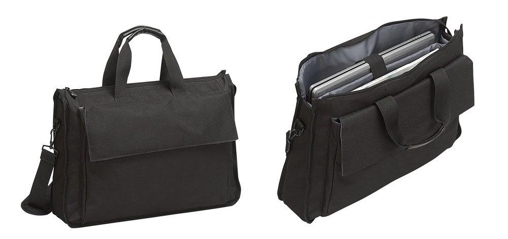 Black Lightweight 17 Laptop Padded Computer Bag Briefcase