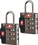 Victorinox Travel Sentry Approved Combination Lock Set, Grey/Red Logo