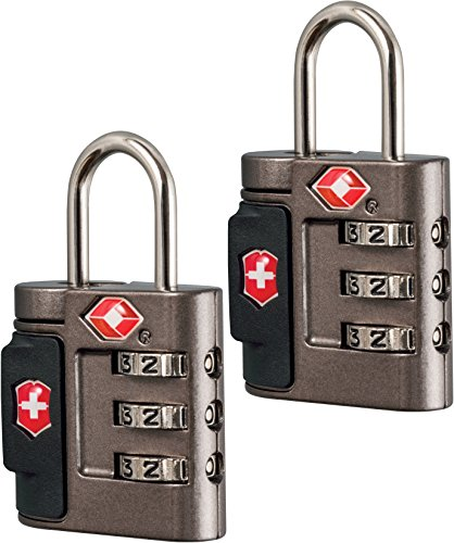 Victorinox Travel Sentry Approved Combination Lock Set, Grey/Red Logo ()