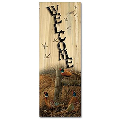 WGI-GALLERY 412 Welcome Abandoned Fence Line Wooden Wall Art