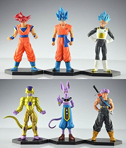 GANSUP Set of 6pcs Dragonball Z Dragon ball DBZ GOKU TRUNKS Action Figurines