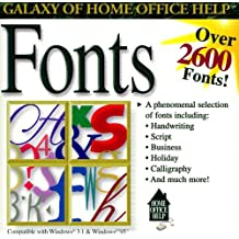Galaxy of Home Office Help Fonts 2600