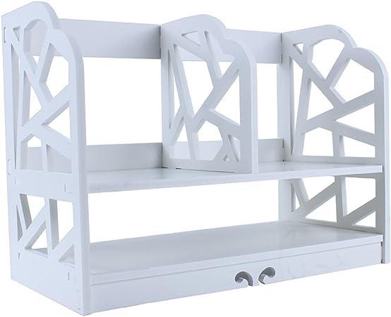 Yosoo DIY Estante de Libros, Estantería sobre Mesa para Libros, Librero Blanco de Madera (Modelo A: 30x21x40cm): Amazon.es: Hogar