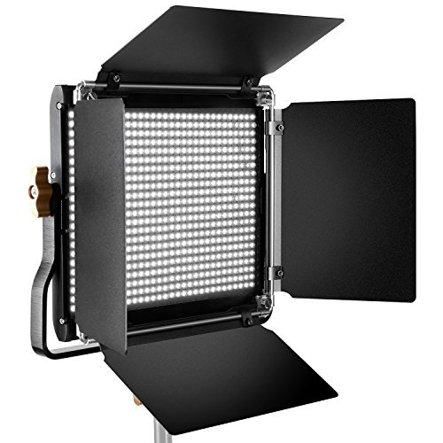 Neewer Professional Metal LED Video Light for Studio, YouTube, Product Photography, Video Shooting, Durable Metal Frame, Dimmable 660 Beads, with U Bracket and Barndoor, 5600K, CRI 96+ by Neewer