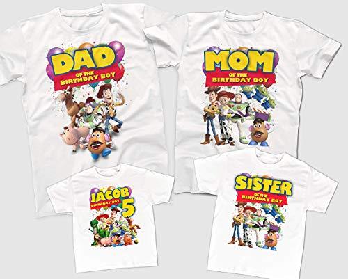 Toy Story Birthday Shirts, Custom Birthday Shirts, Family Birthday Party Shirts, Toy Story themed Birthday Party]()