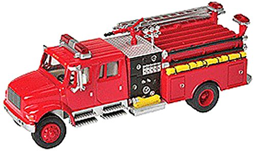 Walthers SceneMaster International 4900 Fire Engine, Red (Diecast Fire Engine)
