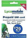 アメリカ・ハワイSIM lycamobile 初月料金コミコミパック LTE通信1GB・通話・テキスト・データ・国際通話も全部コミコミ!日本ローミング可