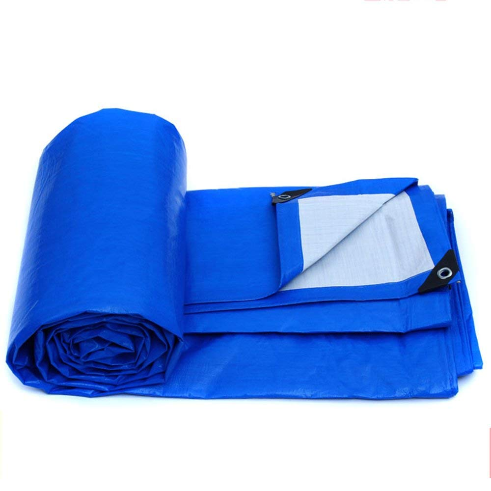 MONFS Home Zelt im Freien Plane Markise Tuch Logistik LKW Gebäude staubdicht Winddicht Kunststoff Tuch (Farbe   Blau, Größe   4  3m)