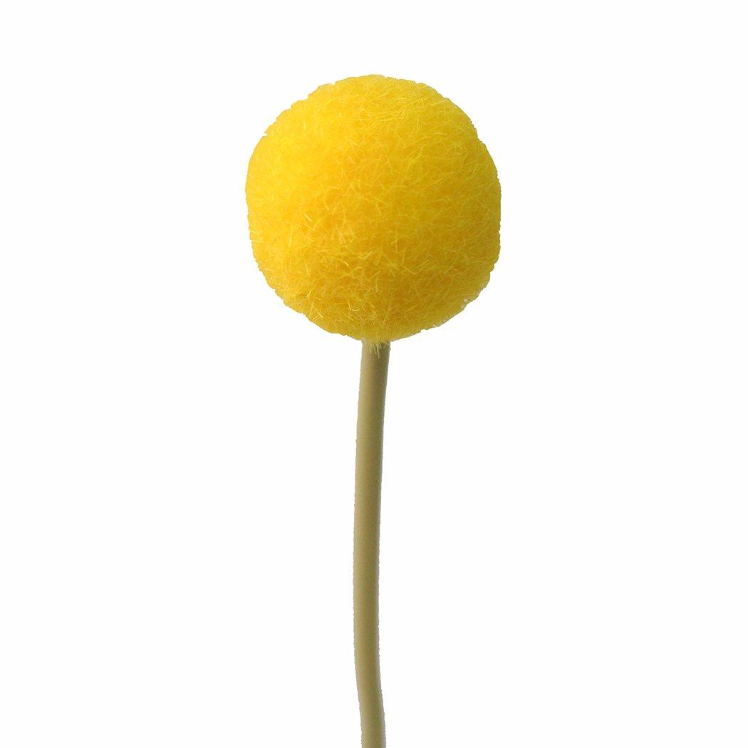 Jarown 20 Pcs Artificial Dried Craspedia Flowers Yellow Billy Balls