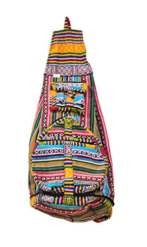 Bohemian Hippie Hemp Cotton Unique Sling Shoulder Backpack