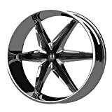 Helo HE866 Chrome Wheel with Black Accents (20x8.5
