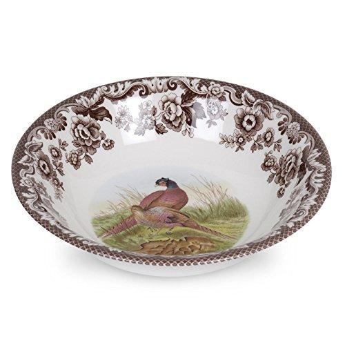 Spode 1566415 Ascot Cereal Bowl, Multicolor Woodland Pasta Bowl