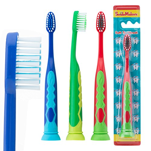 SmileCare Youth Suction Cup Toothbrush - Children's Dental Hygiene Products - 48 per Pack by Smile Makers