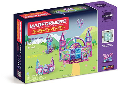 Magformers Inspire Set (100-pieces)  Magnetic Building Blocks JungleDealsBlog.com