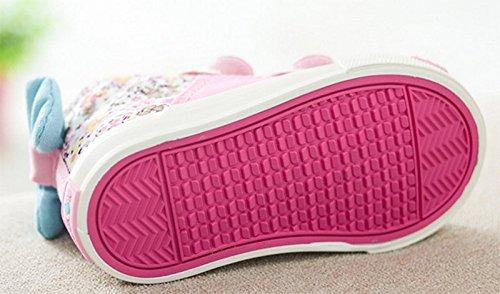 Ohmais Kinder Mädchen Kind-Mädchen-Jungen-Sportschuh Freizeitschuh Pink
