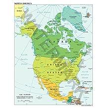 NORTH AMERICA 2012 MAP HUGE ART PRINT POSTER LLF0840
