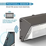 LEDMO 120W LED Wall Pack with Photocell Dusk to
