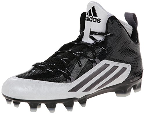 adidas Performance Men's Crazyquick 2.0 Mid Football Cleat, Black/Titanium, 10.5 M US