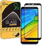 Jasinber Mica Vidrio Cristal Templado Protector de Pantalla para Xiaomi Redmi 5 Plus (Negro)