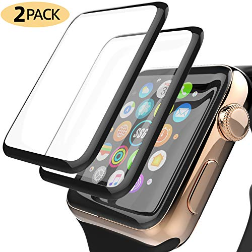 YJan iWatch Screen Protector 44mm [2-Pack] Clear Anti-Smudge Anti-Scratch Bubble-Free Military Grade PET Film Easy-Installation Protector for Apple iWatch 44mm Series4