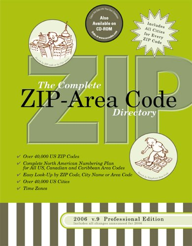 2006 7 Complete Us Zip Area Code Directory  3 Way Easy Lookup For All Us Zip Codes And Area Codes