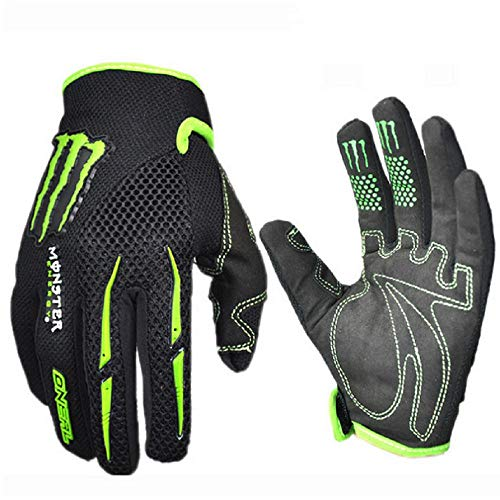 warmsport Black Green Gloves Cycling Gloves Mountain Bike Gloves Road Racing Bicycle Gloves Motorcycle Gloves Full Finger Gloves Thor ghostcrawler Gloves Men/Women Work Gloves(L Size) ()