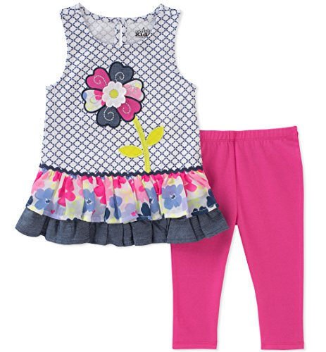 Kids Headquarters Baby Girls Tunic Set-Sleeveless, Printed/Berry, 24M Berry Kids Clothing
