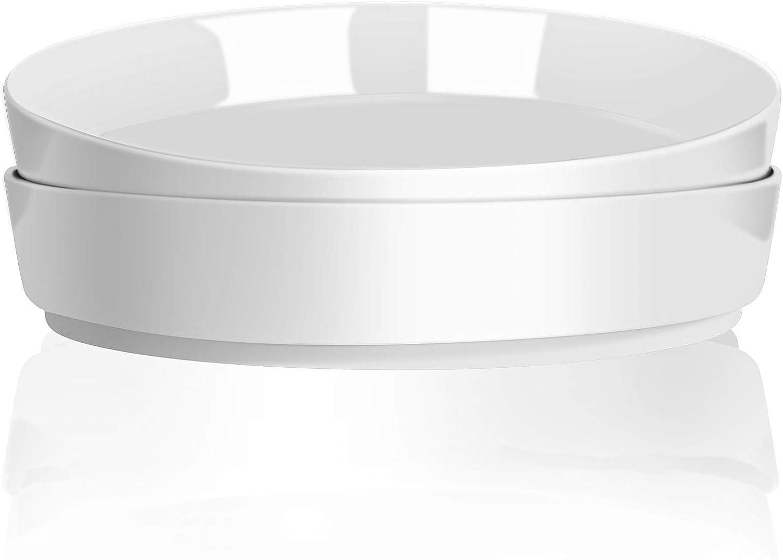TGLBT Porcelain Pasta Bowls White Set Of 2,Dessert Salad Deep Dish, Microwave And Dishwasher Safe-28 Ounce
