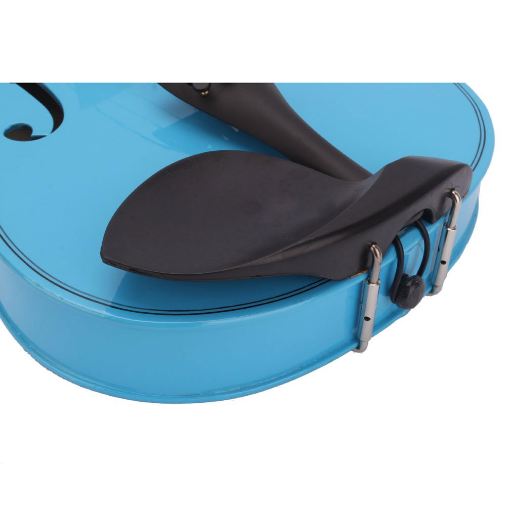 Lovinland 4/4 Acoustic Violin Blue Beginner Violin Full Size with Case Bow Rosin by Lovinland (Image #6)
