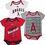 Anaheim Angels 3pc Creeper Bodysuit Infant Baby Majestic