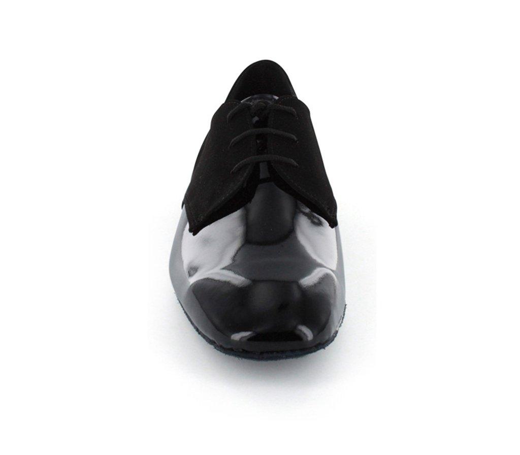 TDA Men's JF917504 Fashion Black Suede Leather Tango Salsa Ballroom Latin Dance Shoes 9 M US by TDA (Image #4)