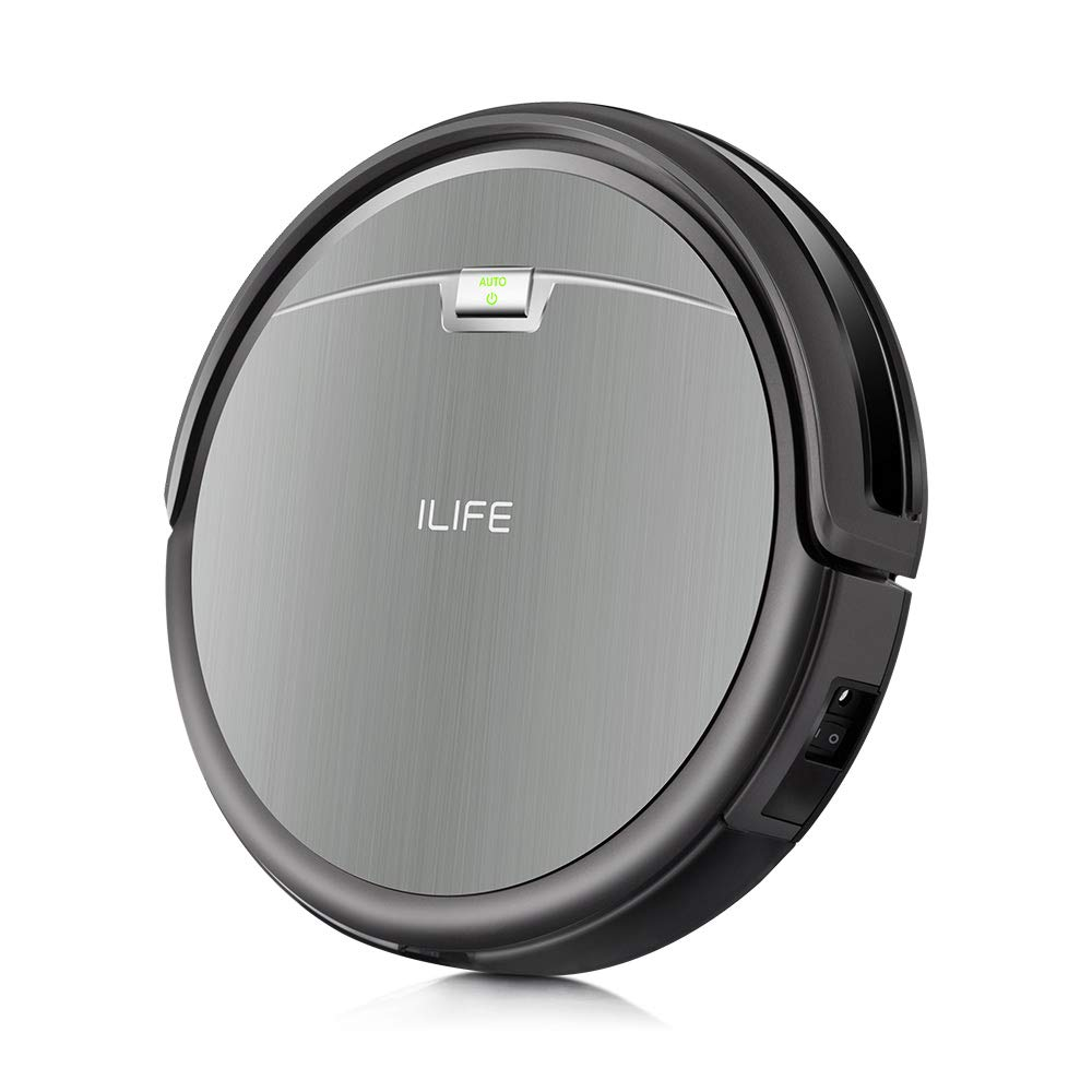 ILIFE A4s Robot Vacuum Cleaner with Max Power Suction, Up to 140mins Run time, For Hard Floors and thin Carpets by ILIFE