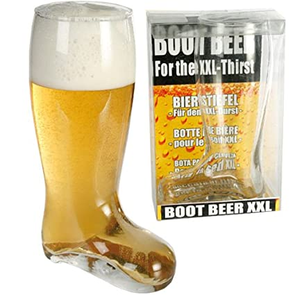 latest good out x wholesale price Large Glass Beer Boot XXL Cider Pint of Lager Drinking Games Gift Fun 800ML  New