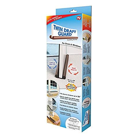 Twin Draft Guard Wind Dust Blocker Sealer Stopper Insulator for Door & Windows (Door Odor Blocker)