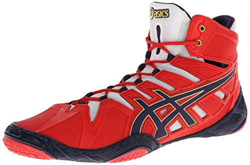 Asics Men-s Omniflex-Attack Wrestling Shoe,Red/Navy/White,14 M US