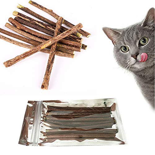 Qianren Pure Natural Catnip Pet Cat Toy Molar Toothpaste Branch Stick Cleaning Teeth Silvervine Cat Snacks Sticks Pet Cat Supplies