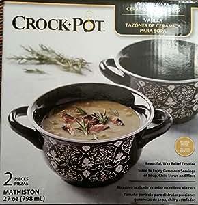 Amazon Com Crock Pot Ceramic Soup Bowl Soup Bowls